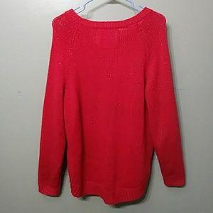 8e8f2fafb7e H M Sweaters - Thick Gold Sparkle Reddish Orange Sweater Medium
